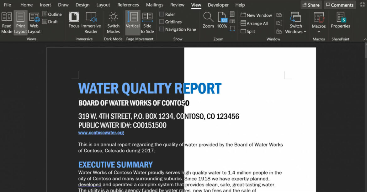 Microsoft Word's dark mode is getting even darker